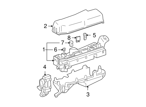 Toyota 82734-02010 Center Junction Block