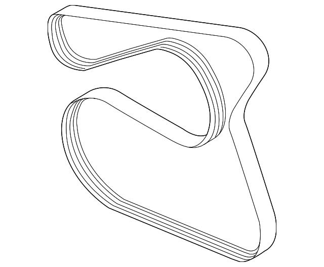 Genuine Ford Serpentine Belt Bm5z 8620 B