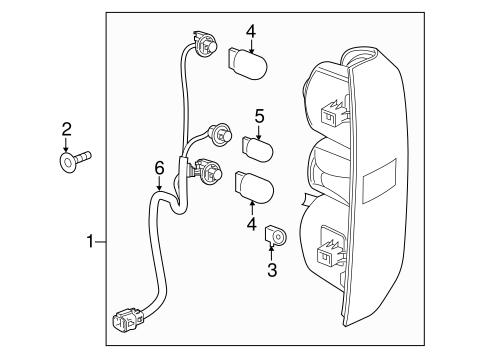 oem 2016 chevrolet colorado tail l s parts gmpartsonline net Chevrolet Colorado Interior electrical tail l s for 2016 chevrolet colorado 1