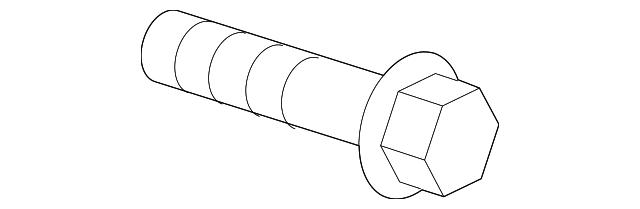belt tensioner bolt - mopar (6104221aa)