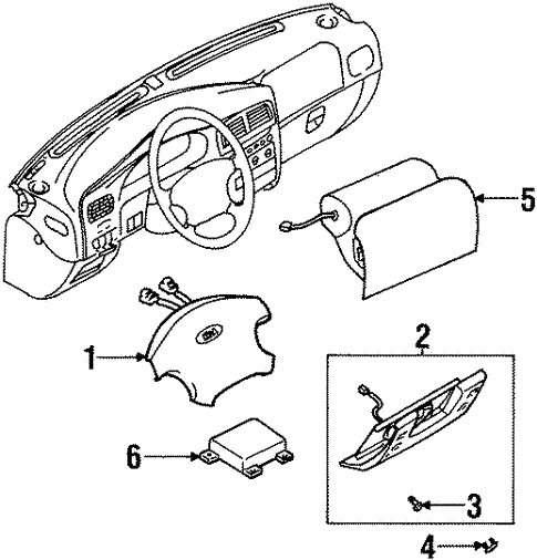 Air Bag Components For 2001 Kia Sportage