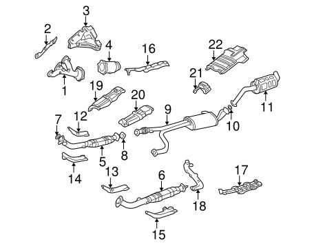 Exhaust Manifold for 2000 Nissan Pathfinder   Crest Nissan PartsCrest Nissan Parts