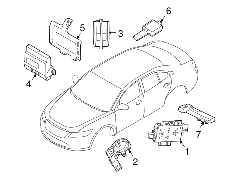 Electrical/Anti-Theft Components for 2016 Ford Taurus #1