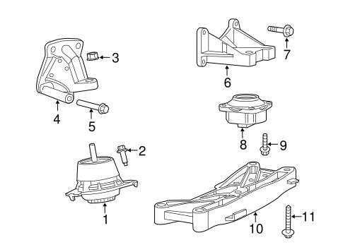 engine & trans mounting for 2015 chrysler 300 #0