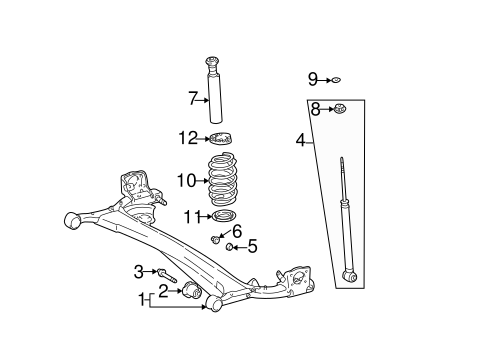 REAR SUSPENSION/REAR SUSPENSION for 2004 Scion xB #2