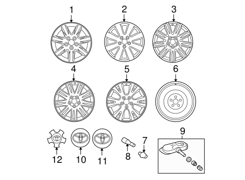 Wheels For 2007 Toyota Avalon