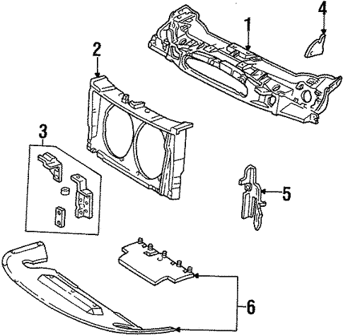 Radiator Support For 1998 Ford Taurus