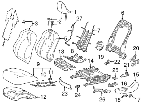 Driver Seat Components For 2018 Toyota Camry