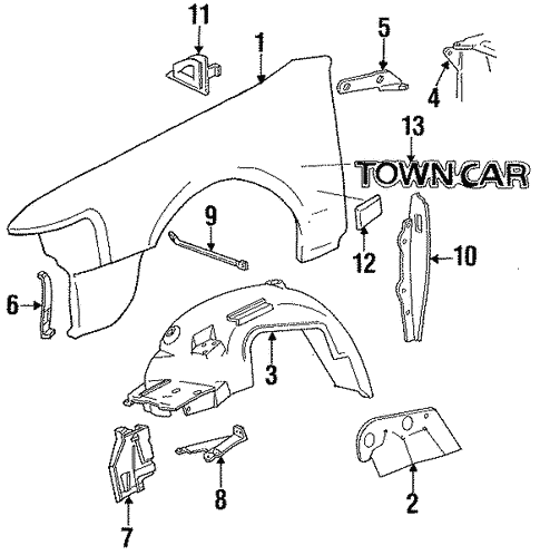 Lincoln Town Car Body Parts Auto Parts Diagrams