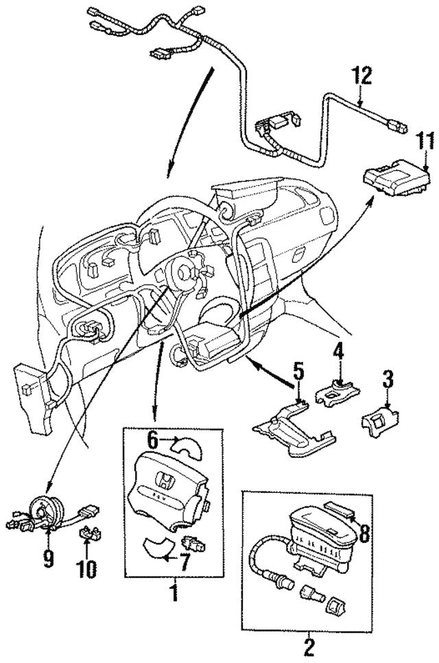 1996 1997 Honda Odyssey 5 Door Airbag Assembly Passenger G37l