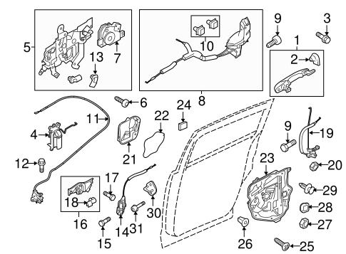 Mazda BF67-59-310C Door Lock Actuator Motor