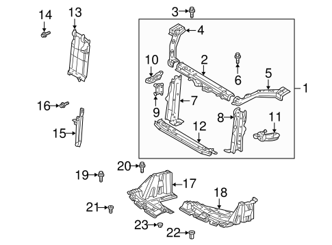 Radiator Support For 2003 Toyota Echo Toyota Parts Center