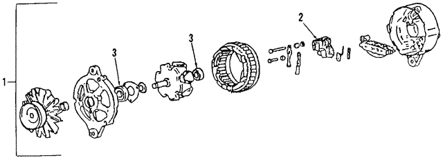 Alternator - Volkswagen (021-903-026-N)