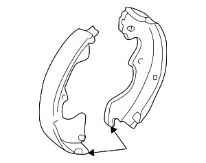 Brake Shoes - Mazda (LDY7-26-38ZB)