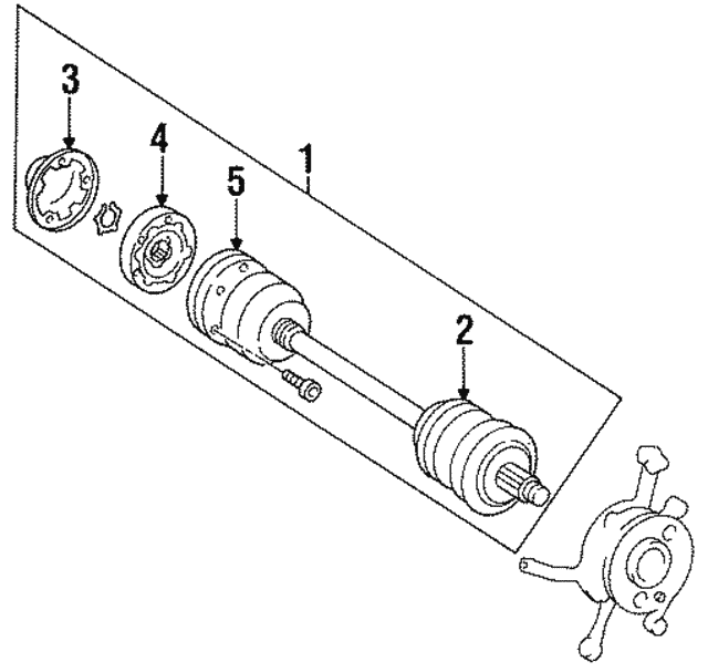 Drive Axle - Mercedes-Benz (140-350-85-10)