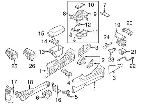 Genuine Hyundai 84690-2S000-9P Console End Cover Assembly