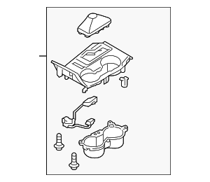 Cover Assembly-console Upr - Hyundai (84650-2SEB0-GV2)