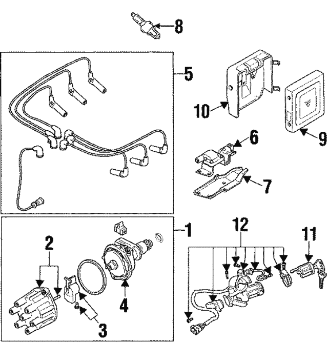 Ignition Coil Bracket - Mitsubishi (MD134596)
