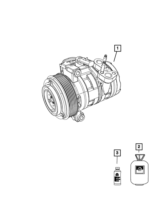Air Conditioning Compressor - Mopar (2AMA11401A)