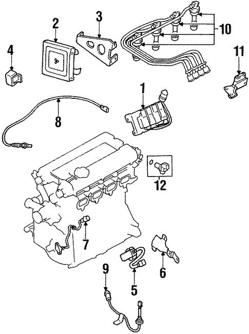 Eletrical 99 Mitsubishi Eclipse Parts Diagram