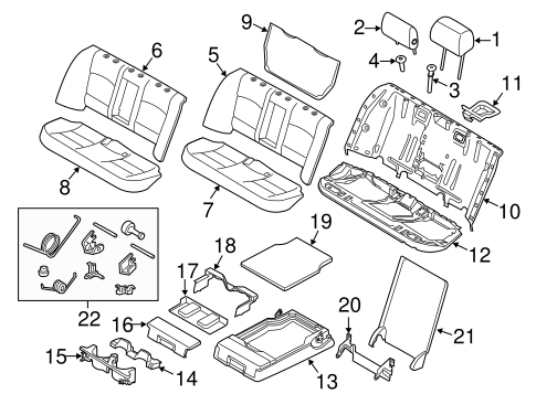 Rear Seat Components For 2015 Bmw M5