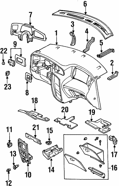 Instrument Panel Components for 2000 Ford Windstar #0