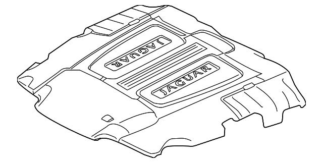 2010 2013 Jaguar Engine Cover C2d32675