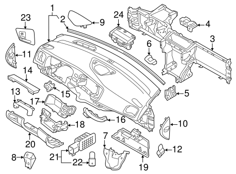 Air Bag Components for 2013 Volvo S60 #3