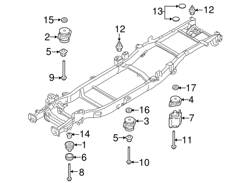 f 150 frame diagram frame   components for 2017 ford f 150 tascaparts com  frame   components for 2017 ford f 150