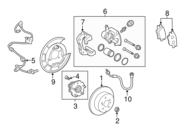 20062012 Toyota Rav4 Abs Sensor Wire 8954642040 Curry Of Connecticut: Wiring Diagram For 2012 Toyota Rav4 At Hrqsolutions.co
