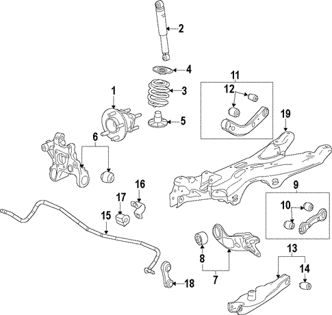 oem 2015 chevrolet malibu rear suspension parts gmpartsonline net rh gmpartsonline net 2010 chevy malibu suspension diagram 2006 chevy malibu suspension diagram