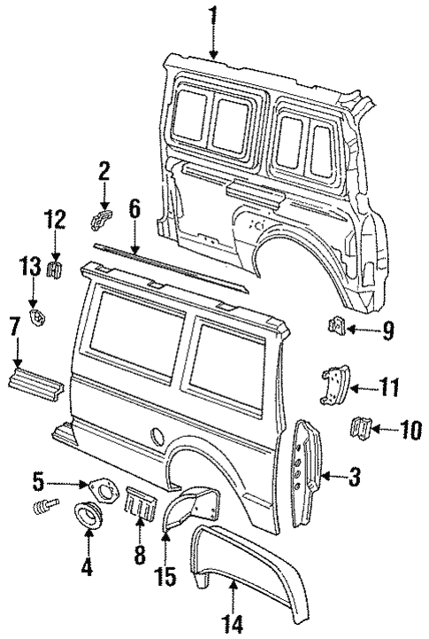 Inner Structure for 1993 Chrysler Town & Country #1