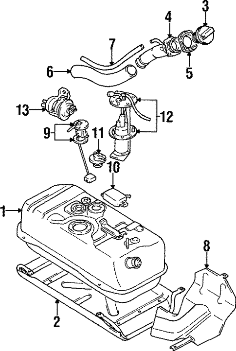 Fuel System Components For 1995 Suzuki Sidekick