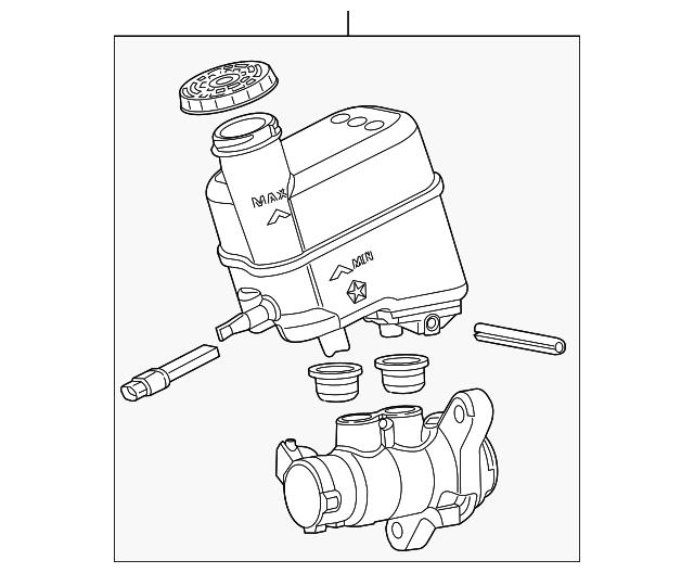 2019 Jeep Cherokee Master Cylinder 68418190aa