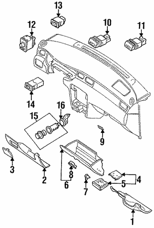 Glove Box Latch (S14 R34) - Nissan (68630-9Z800)