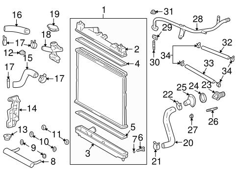 genuine oem cooling system parts for 2006 scion xb base olathe rh parts olathetoyota com 2006 scion xb parts diagram 2006 Scion Serpentine Belt Diagram
