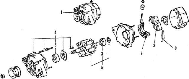 Alternator - Toyota (27060-15080-84)