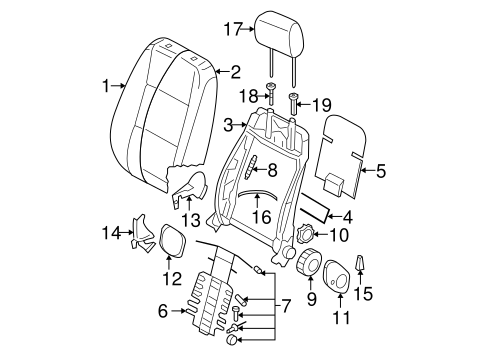 Front Seat Components For 2009 Volkswagen Jetta