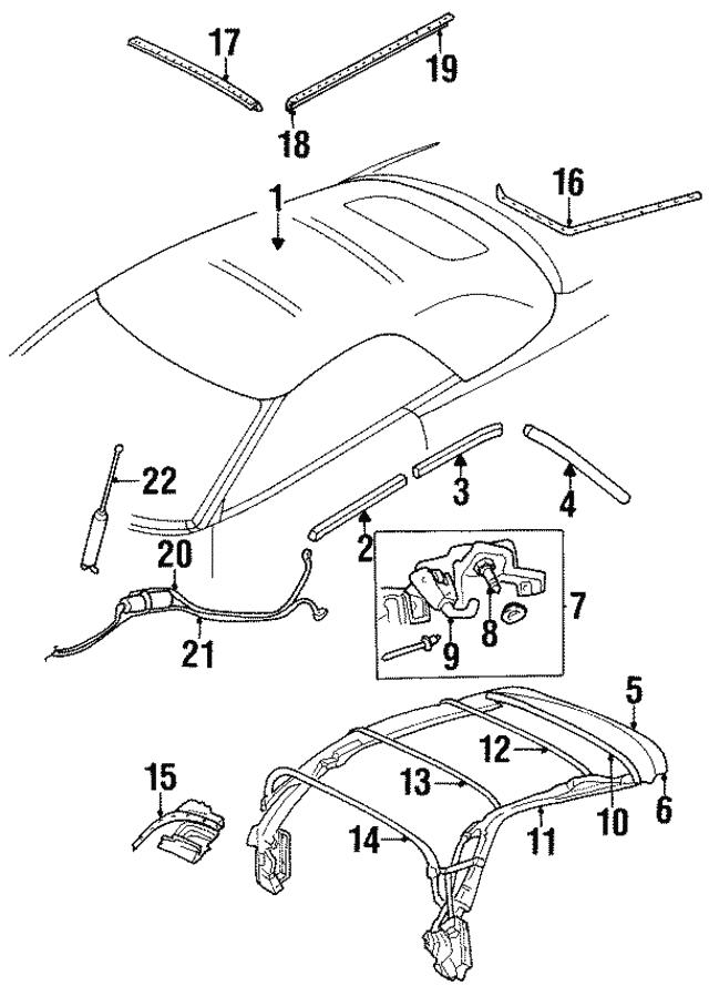 1996 2000 Chrysler Sebring Weatherstrip 4724457ab