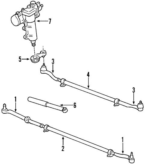 steering gear  u0026 linkage for 2001 jeep grand cherokee