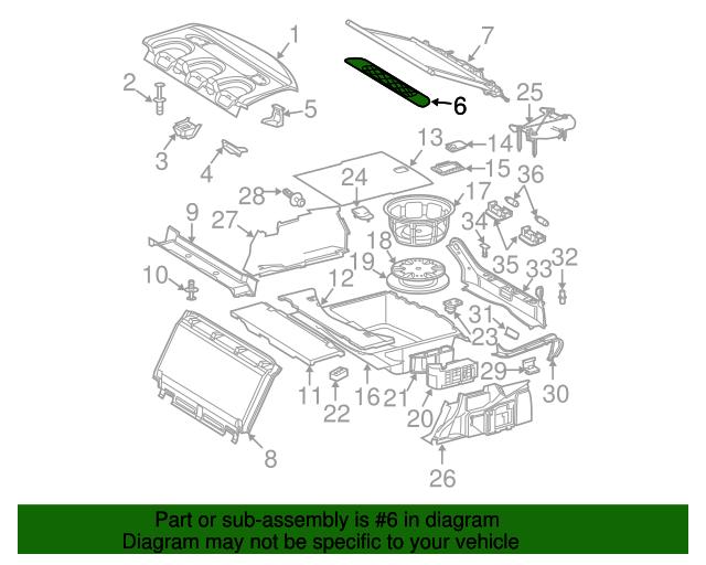 Speaker grille mercedes benz 211 690 01 30 5c66 for Mercedes benz parts by vin number