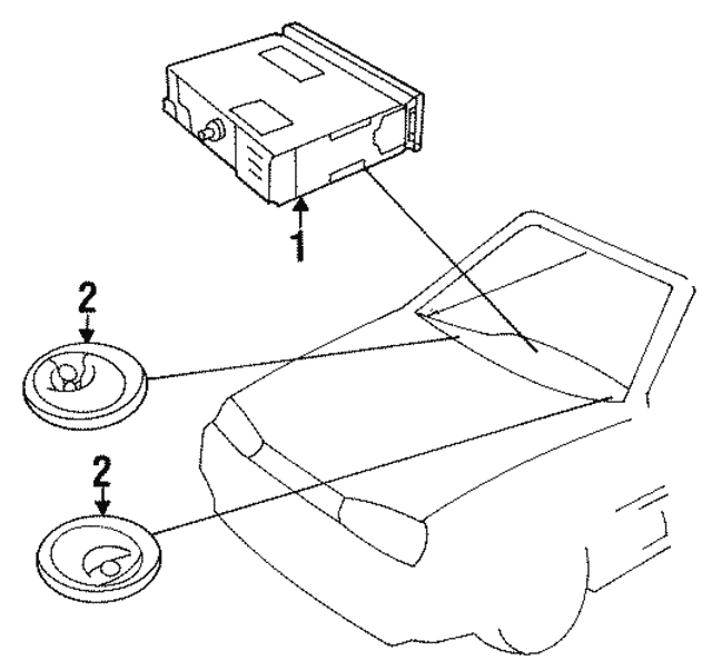 1987 1997 Volkswagen Amfm Cassette 357035186j
