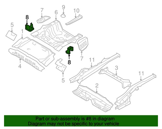 Genuine Hyundai 65145-2G000 Seat Mounting Bracket Assembly