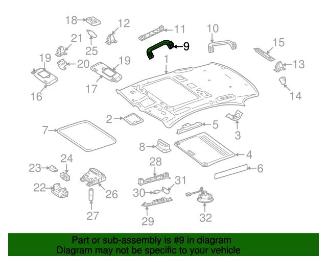 Grip handle mercedes benz 221 810 03 51 9051 shop for Mercedes benz parts online store