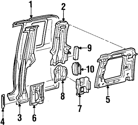 BODY/SIDE PANEL for 1996 Toyota T100 #1