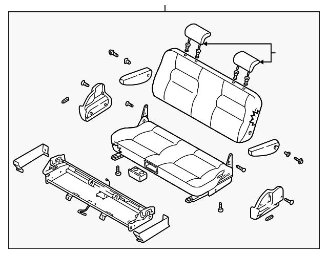 2002 Kia Sedona Seat Assembly 0k52y 57300dbt4