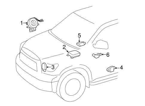 ELECTRICAL/AIR BAG COMPONENTS for 2014 Toyota Tundra #2