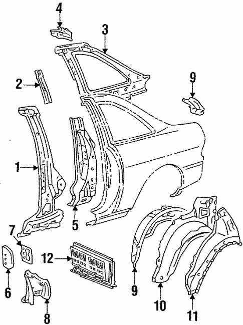 Inner Structure For 1997 Lexus Sc300
