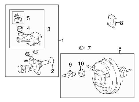 BRAKES/HYDRAULIC SYSTEM for 2009 Scion xB #1