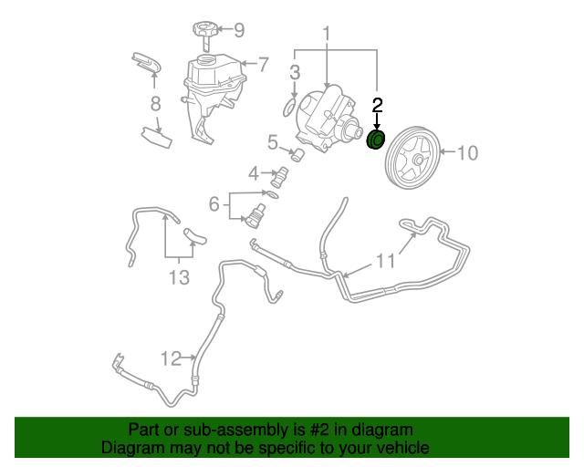 power steering pump front seal gm 15277770 gmpartsdirect com rh gmpartsdirect com gm 3.6 power steering pump diagram gm 3.6 power steering pump diagram